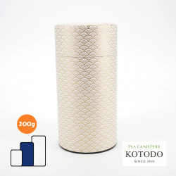 Japanische Teedose aus Washi-Papier, WASHI Collection, goldener Vaque