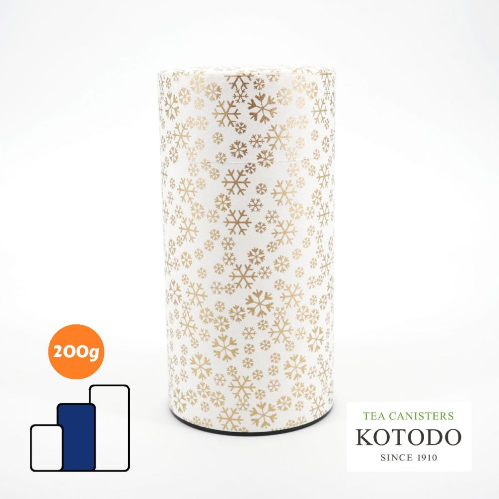 Japanese tea canister Washi design Collection white paper golden flakes