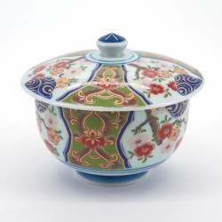 japanese tea bowl with lid - chawanmushi - picture FLOWER