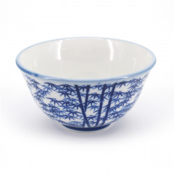 japanese blue bamboo patterns teacup TAKEBAYASHI ATSUSHI SENCHA