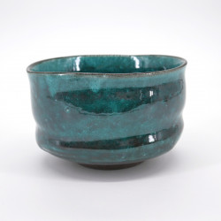 japanese bowl for tea ceremony Ø12cm BLUE MATCHA