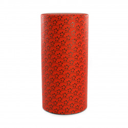 Japanese tea box made of washi paper, KOHANA, red