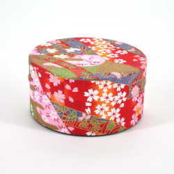 Japanese tea box washi paper flat 40g red