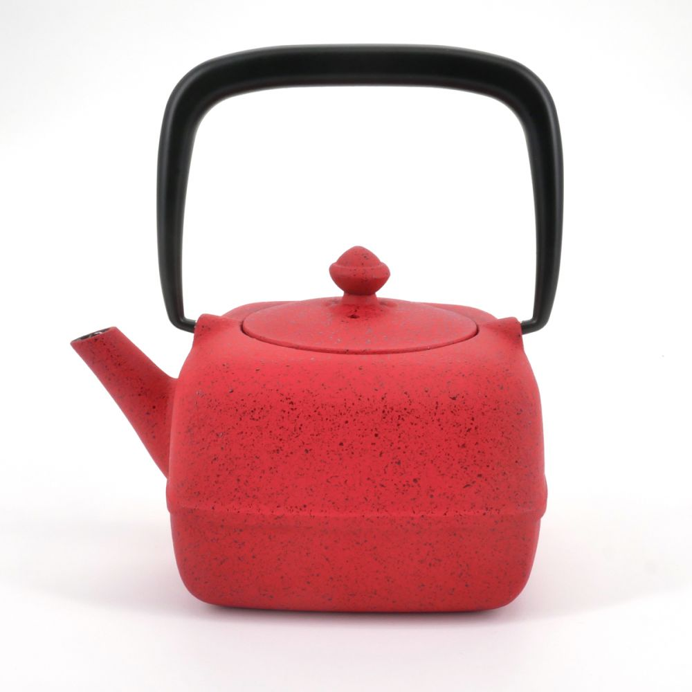 red japanese cast iron teapot wazuqu YOHO 0.40lt