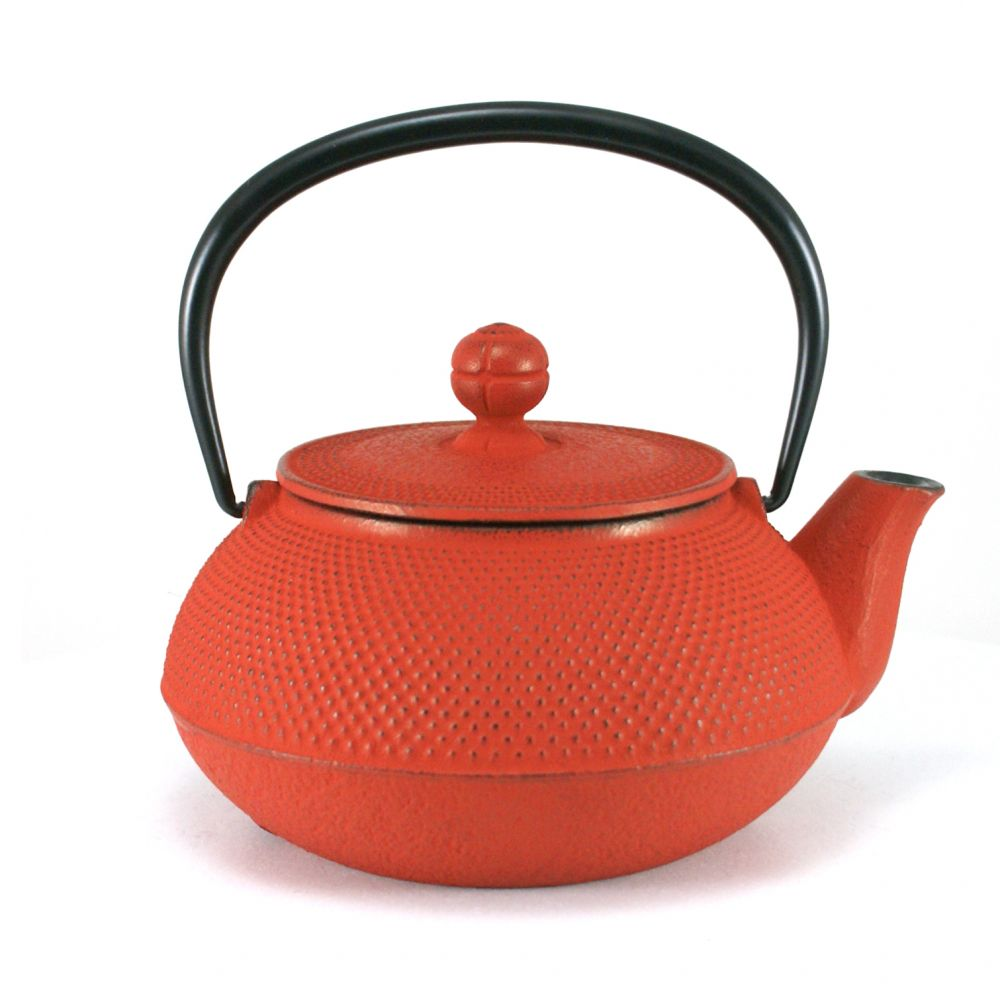 japanese Cast Iron Teapots IWACHU, arare, red, 0.55 lt