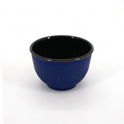 japanese cast iron teacup Arare gold blue