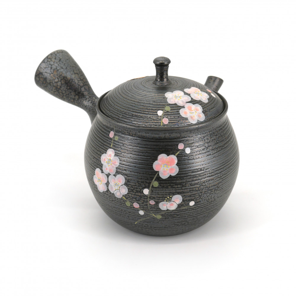 japanese kyusu teapot made of terracotta tokoname sakura SHORYU