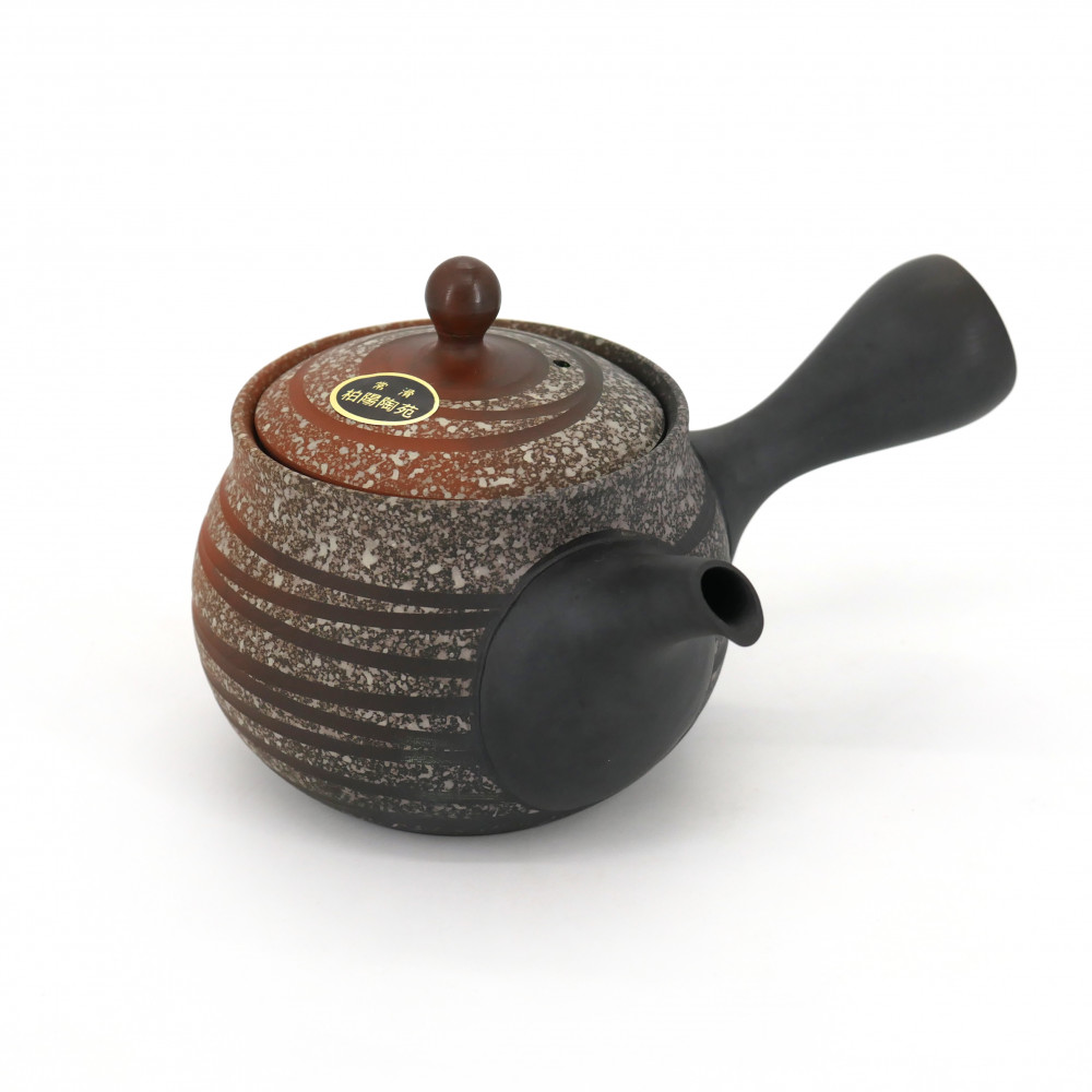 japanese red kyusu teapot in terracotta tokoname SHENYANG