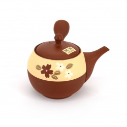 japanese red kyusu teapot made of terracotta tokoname YAKIBA
