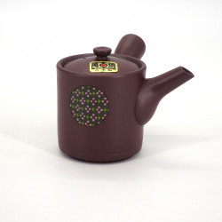 japanese red kyusu teapot tokoname in terracotta YUZEN