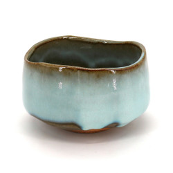 Japanese tea bowl for ceremony - chawan, MASHIKO, blue sky
