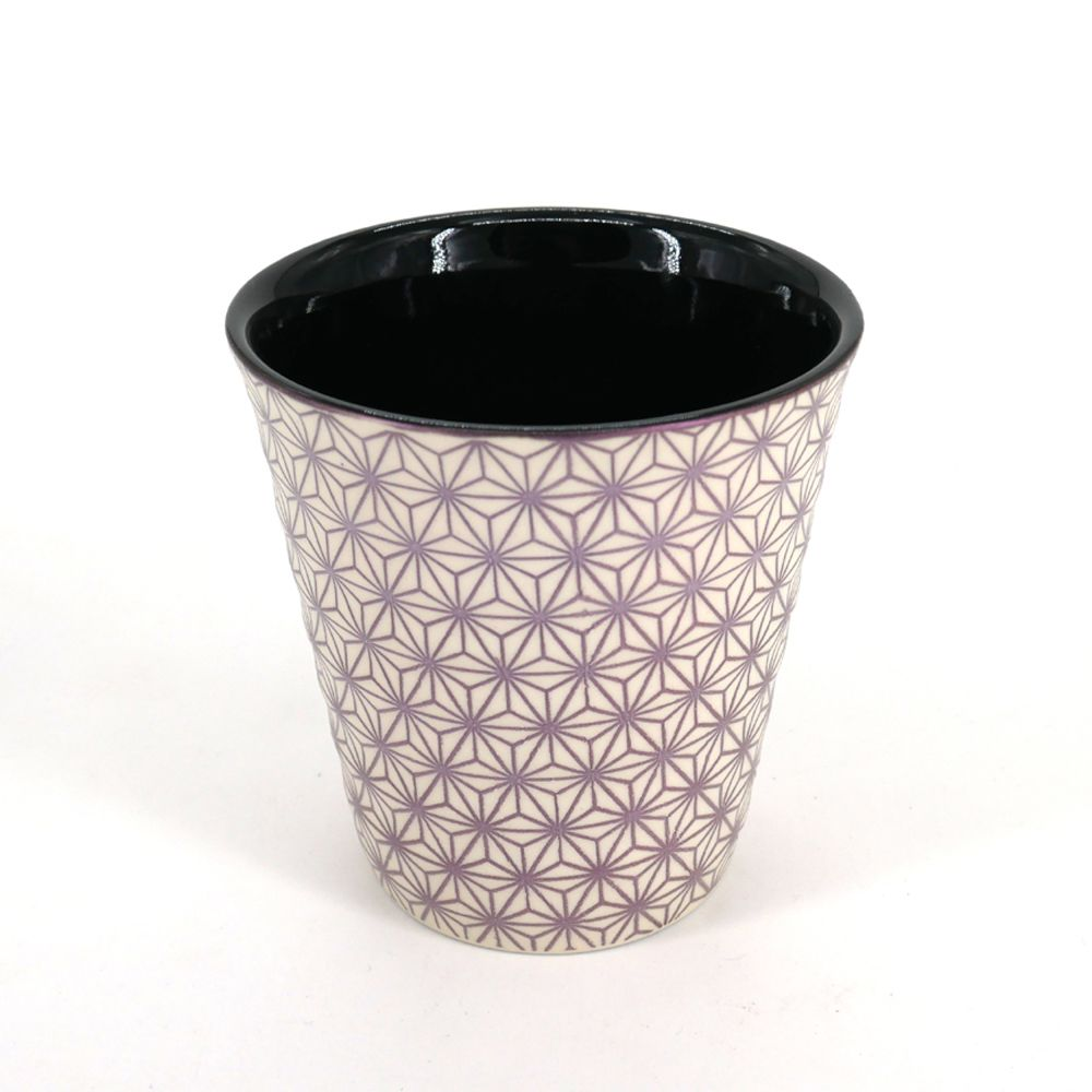 japanese beige and pink teacup in ceramic ASANOHA stars
