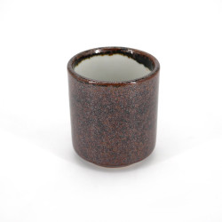 japanese brown ceramic teacup CHAKESSHO yunomi