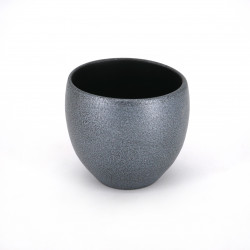 Japanese large cup Ø8,5cm in ceramic DÔKI silver