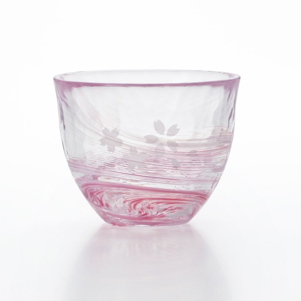 Japanese glass cup - pink - TIKKAPU