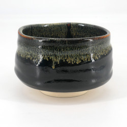 Japanese tea ceremony bowl - chawan, KURO, black