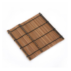 Dark bamboo coaster, SOME, natural