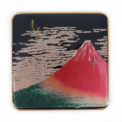 Japanese decorative resin coaster, AKAFUJI