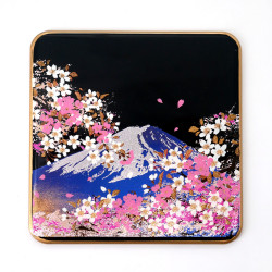 Japanese decorative resin coaster, FUJISAKURA