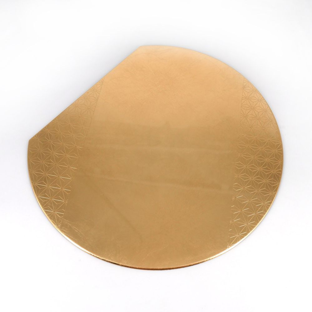 Japanese placemat in golden resin, ASANOHA