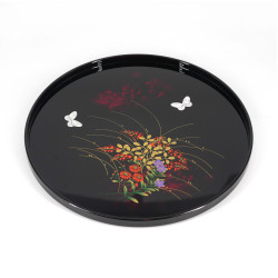 Black lacquered effect tray, MIYABINO