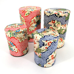Japanese tea box made of washi paper, CHIBORI