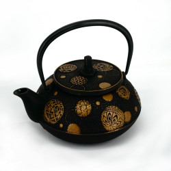 japanese Cast Iron Teapots IWACHU, SHIPPO, blue gold, 0.65 lt