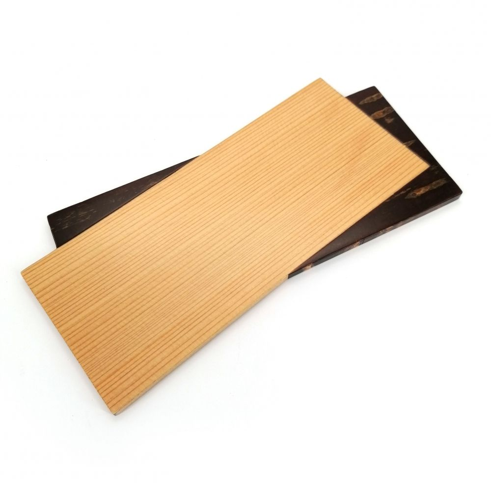 Small tray in AKITA cedar and cherry bark, SLIDER, handcrafted
