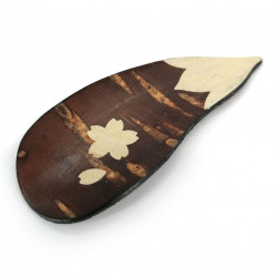Cherry bark spoon, NASUBI, eggplant