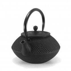 Japan cast iron teapot, OIHARU MARU ARARE 0,8lt, black