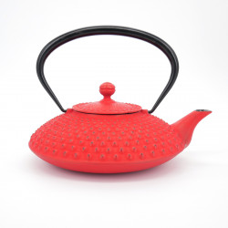 Japanese teapot cast iron, IWACHU KAMBIN 1,2lt, red