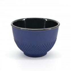 japanese cast iron teacup Arare Navy blue
