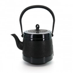 Tetsubin Japanese Cast Iron Kettle, IWACHU MICHIKAZE 1,9L, black