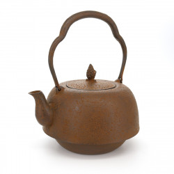 Tetsubin Japanese Cast Iron Kettle, IWACHU NAMBUHADA 1,9L, Brown