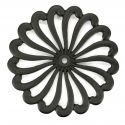 Japanese cast iron trivet, ARARE HANA, black