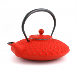 Japanese teapot cast iron, IWACHU KAMBIN 0,750lt, red