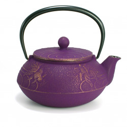 Japanese teapot cast iron, IWACHU KOI 0,55lt, purple
