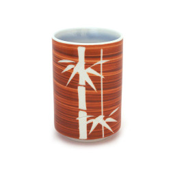 Japanese red teacup ceramic 3934