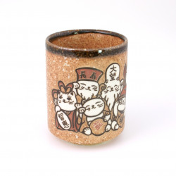 Japanese teacup ceramic shichifuku cat 17MYA5522247E