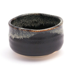 black bowl Japanese ceramic tea 43121