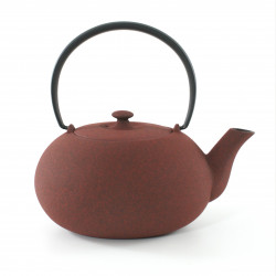 Japanese teapot cast iron, WAZUQU FUKU 0,6lt, red