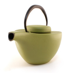 japanese Cast Iron Teapots IWACHU, Hikifune, light green, 0,7 lt