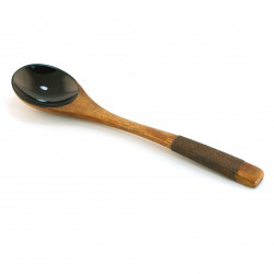 Japanese black wooden spoon 16MC6380971