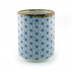 Japanese blue teacup asanoha Sashiko patterns
