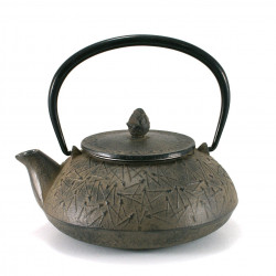 japanese cast iron teapot, OITOMI SABI 0,7lt, pine needles