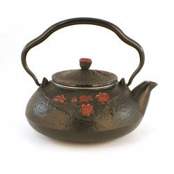 japanese Cast Iron Teapots, Shinonome, sabi grey, 0,6 lt
