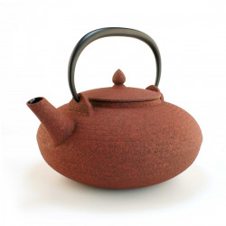 Japanese teapot cast iron, WAZUQU ITOME 0,7lt, red