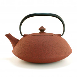red japanese cast iron teapot wazuqu MUJI 0.65lt