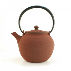 red japanese cast iron teapot wazuqu Hikime 0.55 lt