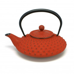 Japanese red cast iron teapot. Iwachu. Kambin 0.5 lt